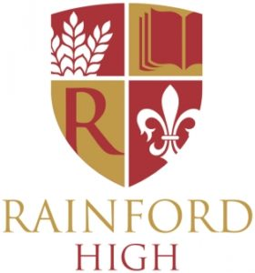 image of rainford high school badge