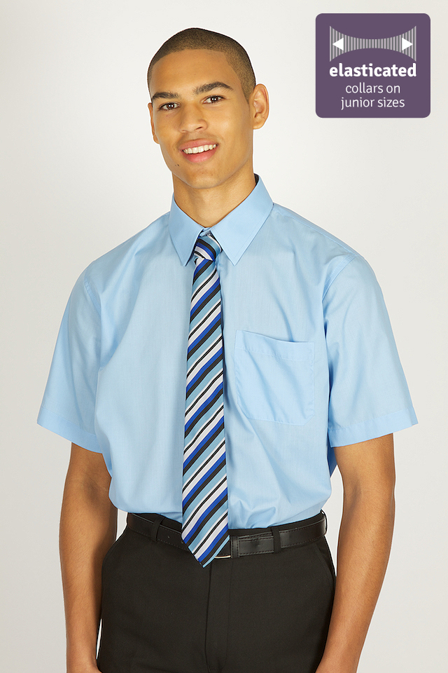 Short sleeve shirt whittakers school wear for Short sleeve school shirts
