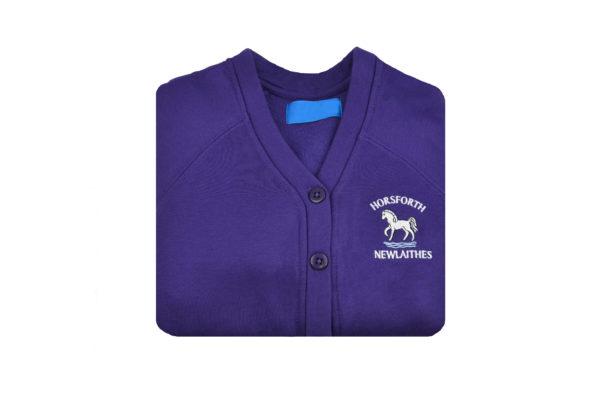Horseforth Newlaithes Purple Cardi 1
