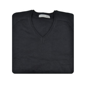 St Christopher Black V-Neck Jumper