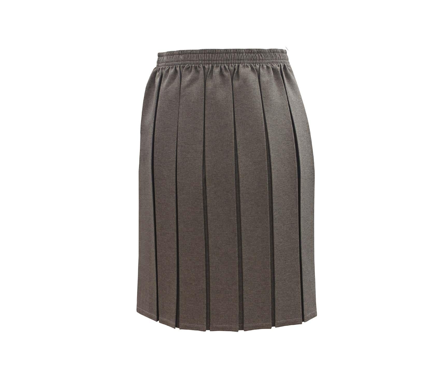 22562720b Grey Box Pleat Skirt - Whittakers School Wear