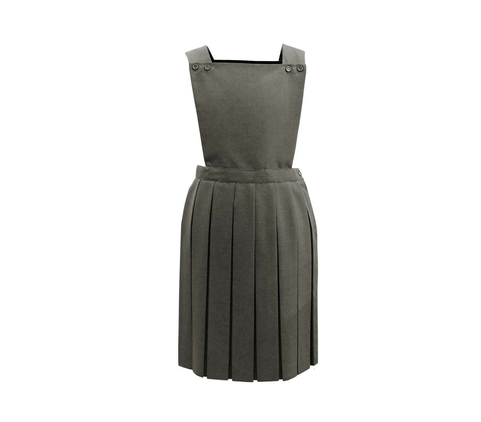f99d4dc941e Grey Square Neck Pinafore Dress - Whittakers School Wear