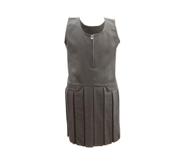 zip front tunic grey